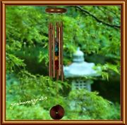 Woodstock Chakra Chimes 7 Stones Bronze Wind Chime 17.5 Length New Fast Ship