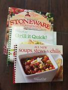 The Pampered Chef Stoneware Sensations 1997, Soups ..., Grill It Lot Of 3