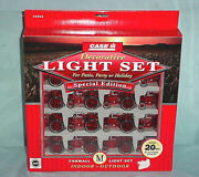 Allis-chalmers Red Tractor Patio Holiday Party 20 Light Set String Case Ih