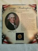 George Washington One Dollar Collection Coin And Stamps