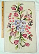 Ar Vintage Traditional Floral Hand Hooked Wool Rug 32x20 Inchs By Anne Eastwood
