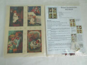 Antique Christmas Card Wall Quilts Fabric Kit By Purrfection Preprinted Panel