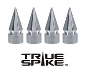 4 True Spike Chrome Spiked Tpms Wheel Air Valve Stem Cover Cap For Jeep Cherokee