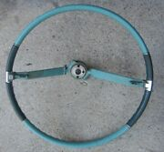 1963 Cadillac Steering Wheel Non-tilt Two Tone Teal Blue Green Used 62 63 64 65