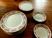Nurumi China Marked Occupied Japan - 8 Dinner Plates, 2 Bred And Butter Plates