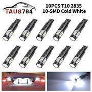 10x Led Light Bulbs T10 T10 194 168 912 License Plate Reverse Lights Cold White