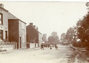 Cosby Superb Rare Animated Rp Cosby Village Children And Chickens On Lane C1908