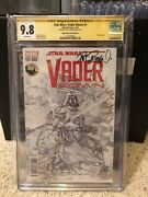 Star Wars Vader Down 1 Variant Copy Cgc 9.8 White Pages Signed By Dave Dorman