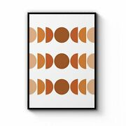 Moon Phase Shape Pattern Abstract Wall Art Print Poster Framed Or Canvas