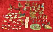 Lot Of Approx. 80 Figures Of Nativity. Painted Ceramic. Spain. Xix-xx