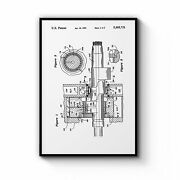 Vintage Rotary Engine Patent Engineering Wall Art Print Poster Framed Or Canvas