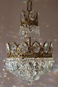 Easy Fit Antique / Vintage Crystal Chandelier Empire Style Home Living Lamp