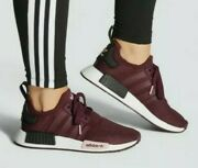 New Adidas Nmd_r1 Originals Burgundy Womenand039s Running Sneakers Fv0409 Us Size 11