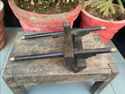1700and039s Ancient Rare Wooden Brass Work Carpenter Woodworking Planer Randa Tools