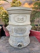 Antique Rare Victorian G. Cheavins Stoneware Water Filter Bost0n England