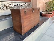 1800's Antique Wood Rare Hand Crafted Indian Military Beautiful Old Tool Box