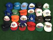 135- Hats Vintage 70s 80s 90s Snapback Trucker Hats Caps Lot Some Non Vintage