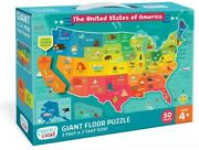 Chuckle And Roar Giant Floor Puzzle - Us Map - 50pc