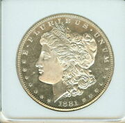 1881 S Morgan Silver Dollar Appears An Exceptional Gem++