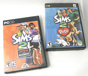 The Sims 2 Pets And Open For Business Expansion Packs Pc Cds Role Playing Game