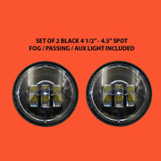 4.5 Auxiliary Daymaker Black Spot Passing Hid Led Fog Lights Bulb Motorcycle...