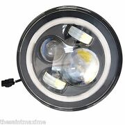 7 Harley Davidson Daymaker Led Headlight With White Halo Ring Hid Light Bulb