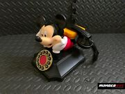 Vintage Rotary Style Phone Telemania Disney Mickey Mouse Desk Telephone 7x8x9in