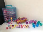 Shopkins Lot Collector Case, Figures, Lil And Happy Places Royal Convertible Car