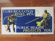 1940and039s Christmas Seals Tuberculosis Robs Public Health Protects Trolley Car Sign