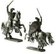 Crusaders Crusader Knight 12th Century Metal Figure 1/32 Tin Toy Soldiers 5046