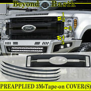 2017 18 2019 Ford F250 Xl And Xlt Only Matte Black Grille Grill Cover Overlay