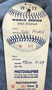 1973 World Series Gm 3 Willie Mays Last Gm Ever Ticket Pass New York Mets/giants