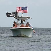 6and039 Boat Flag Pole For Use In Rod Holders And Rocket Launchers And Usa Flag Combo