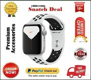 Apple Watch Series 5 44mm Gps Silver With Pure Platinum And Black Nike Sport Band