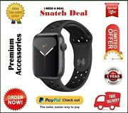Apple Watch Series 5 44mm Gps Space Grey Pure Platinum And Black Nike Sport Band