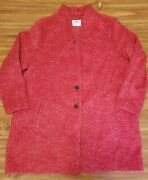 Old Navy Womens Plus Size 2x Red Wool Blend Cardi Coat Nwt