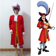 Peter Pan Captain Hook Cosplay Costume Adult Men Outfit Custom Made