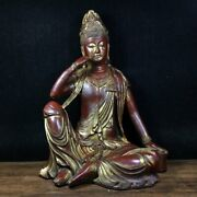13 Exquisite Chinese Old Antique Bronze Ware Free Guanyin Statue
