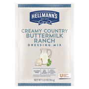 Hellmannand039s Creamy Country Buttermilk Ranch Salad Dressing Dry Mix Pouch Gluten F