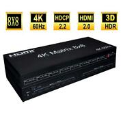 2.0v 4k Hdmi Matrix 8x8 8 In 8 Out Hdmi Matrix Supported 3d 4k Panel Buttons