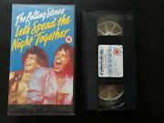 The Rolling Stones Let's Spend The Night Together Video Vhs Rare Cover Oop 1991
