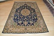 Vintage Circa 1930and039s Authentic 5and039x8and039 Handmade Pictorial Rug Silk And Wool Antique