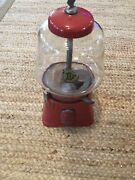 Antique Silver King 1 Cent Gumball Machine 1 Cent Andldquotry Someandrdquo