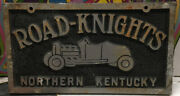 Road-knights Northern Kentucky Car Club Plaque