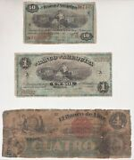Peru Collection 11 Banknotes 1864 To 1881 Privates And Republic Banknotes Rare