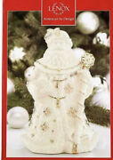 Lenox Florentine And Pearl Santa Claus Cookie Jar Limited Edition New