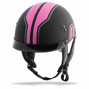 Gmax Gm65 Full Dressed Twin Half Helmet All Colors And Sizes Free Ship
