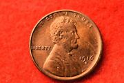 1916-s Lincoln Cent Superior Bu Key Date Coin 205
