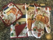 Home Collection Pumpkin Collection Set Of 5 Placemat Oven Mitt Pot Hold Towel