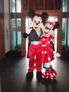 For Rent Minnie Mouse Red Dress Mickey Mascot Costume Party Birthday Halloween
